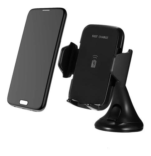soporte y cargador rapido inalambrico celular movil p/auto