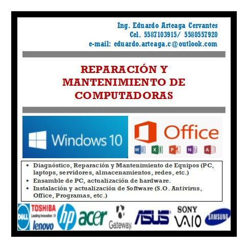 soporte y mantenimiento de servidores, laps y pc