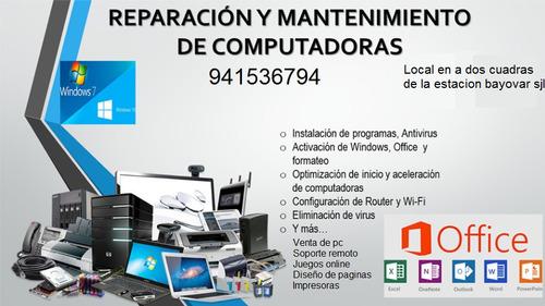 soporte y venta de computadoras laptops impresora