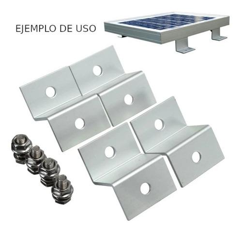 soporte z para panel solar coplanar a techo chapa motorhome