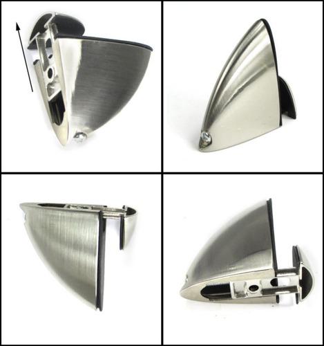 soportes de acero inoxidable para repisas de vidrio o madera