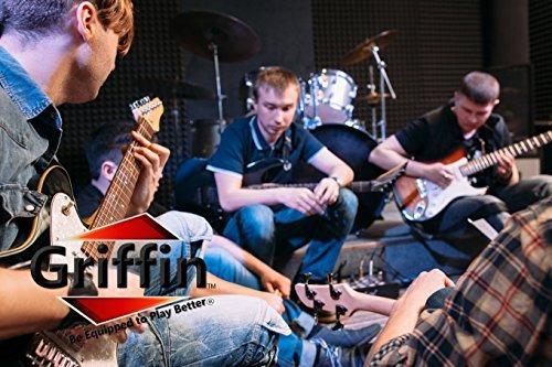 soportes de pared para guitarra (pack of 8) by griffin | ga