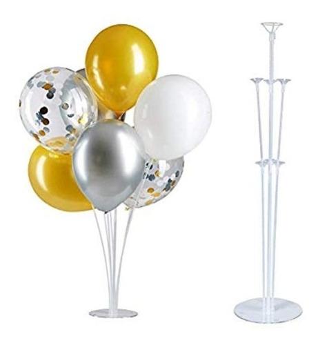 soportes para globos 7 varillas con base de acrílico