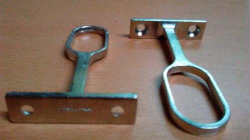 soportes para tubos d closet ovalados el precio es x3 unidad