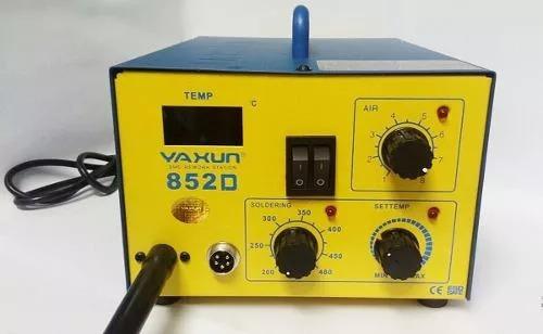 soprador estação ar quente / c ferro solda yaxun 852d / 220v