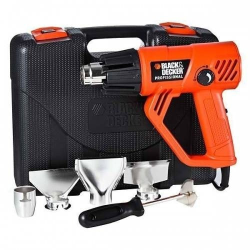 soprador térmico black & decker profissional hg2000k + kit