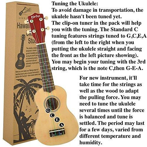 soprano ukulele paquete para principiantes de 21 pulgadas
