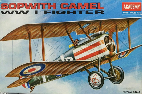 sopwith camel wwi fighter 1/72 academy 1624