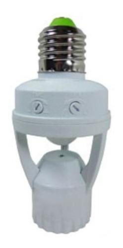 soque com sensor de presença e-27 com fotocélula - garantia