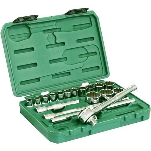 soquete 1/2 pol jogo 10-32 mm sata 18 peças garantia belzer