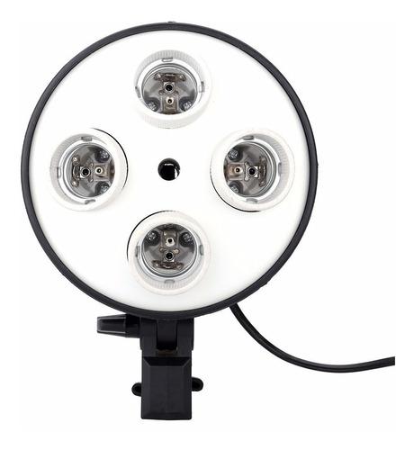 soquete 4 lampadas bocal e27 para softbox fotografia