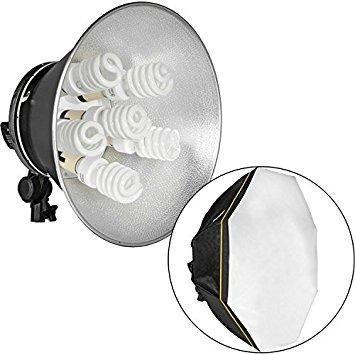 soquete 5 lampadas bocal e27 para softbox fotografia