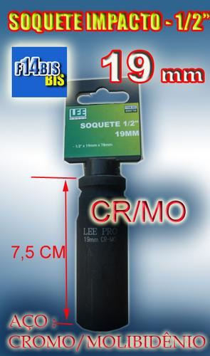 soquete de impacto 1/2´´-19 mm longo - cr/mo frete grátis