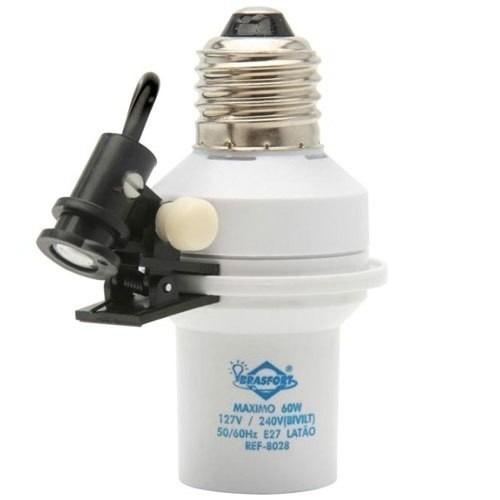 soquete fotoelétrico e27 relé automático - bivolt