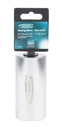 soquete multidimensional 11 - 32 mm encaixe 1/2  gross 13190