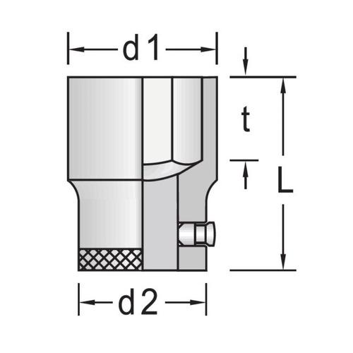soquete sextavado encaixe 3/4'' ref. 32-1.1/8  gedore 017.456