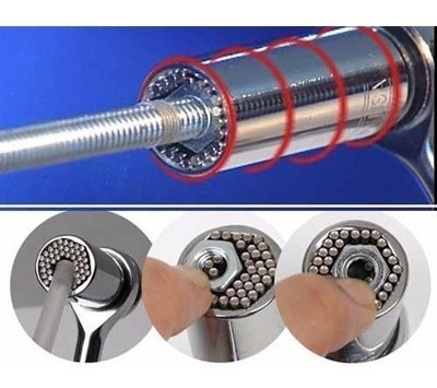 soquete universal 3/8  (6 - 21mm) aço crv p/ chave catraca