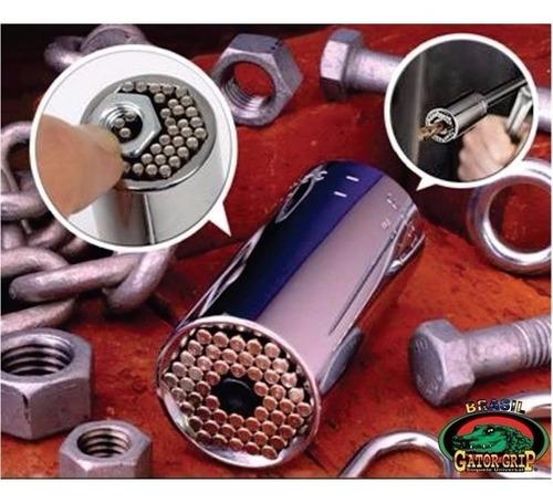 soquete universal multidimensional 3/8 7-19mm com adaptador parfusadeira catraca
