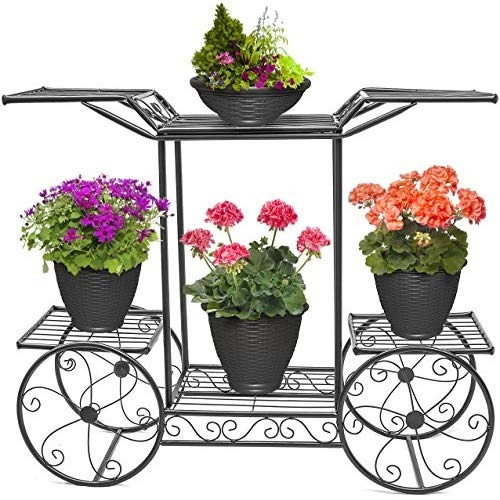 sorbus garden cart soporte y flower pot plant holder.