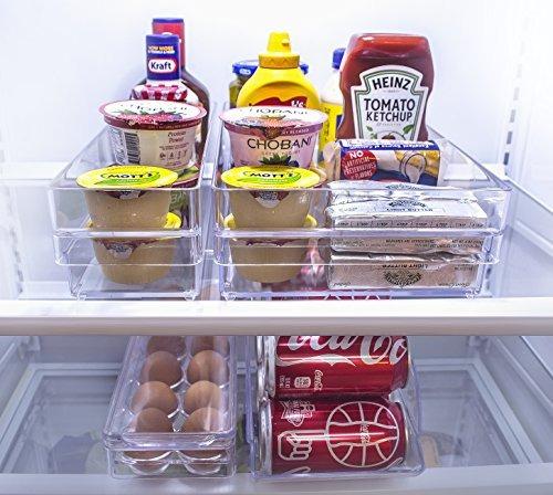 sorbus refrigerador y congelador organizador del almacenaje