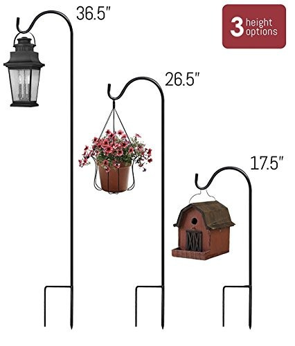 sorbus® shepherds hooks juego de 4 jardineras extensibles e