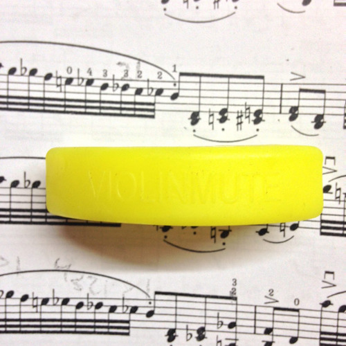 sordina de goma de práctica para violín, color amarillo