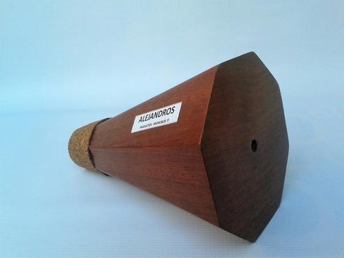 sordina para trombon de estudio ( silenciosa)  de madera.