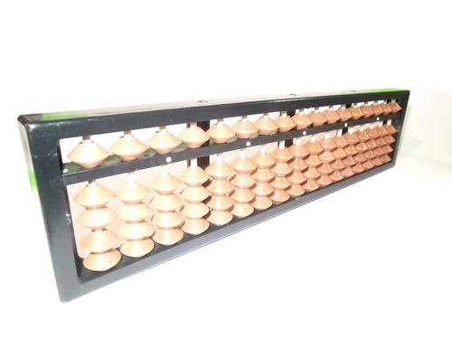 soroban (ábaco) de 17 hastes (colunas) em plástico-nacional