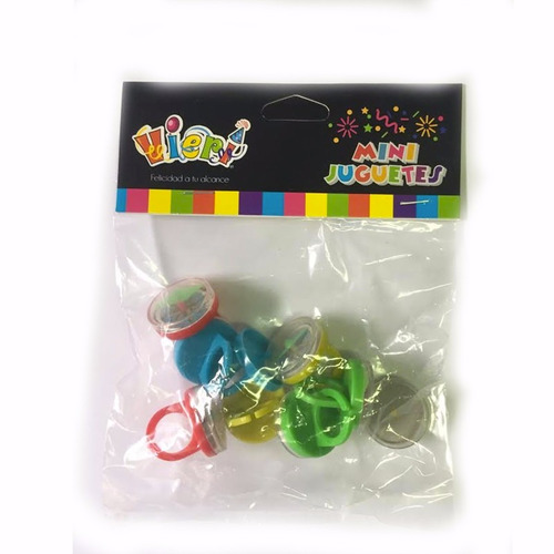 sorpresa 8 anillos brújula piñata cumpleaños fiestaclub