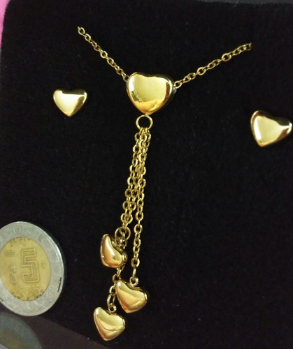 sorpresa san valentin/aniversario a oficina : set oro acero