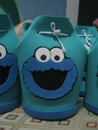 sorpresas de fomix foami goma eva come galletas azul