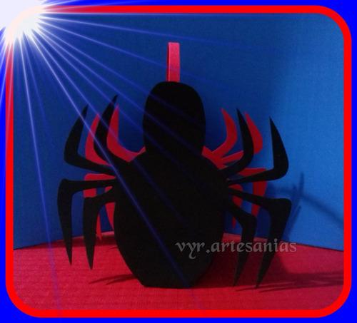 sorpresitas golosineros goma eva hombre araña