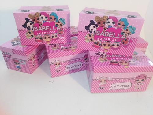 sorpresitas  set 20 cajas cofres personalizados