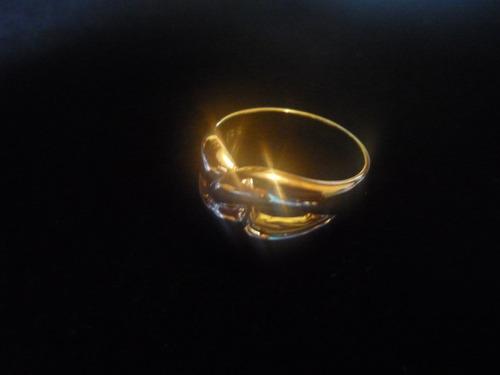 sortija de oro amarillo de 18k / 8gr