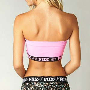 sostén tipo bandeau fox racing hello! mujer rosa xs/sm