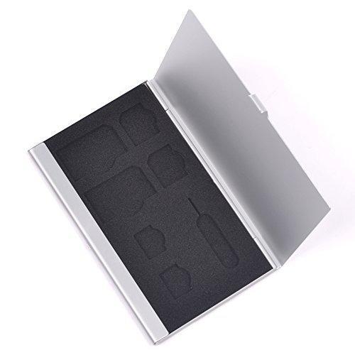 sostenedor duro de la caja de aluminio de la tarjeta de sim