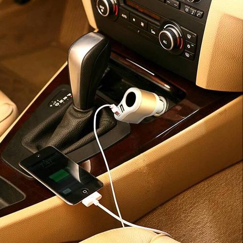 soter® adaptador de cargador de coche usb con + envio gratis