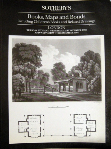 sotheby´s books maps and bonds 1992 bibliofilo no envio
