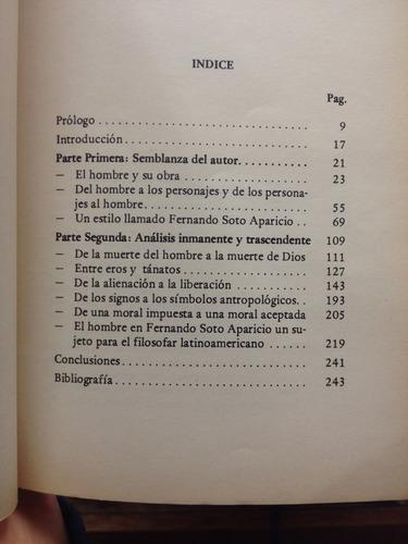 soto aparicio o la filosofía en la novela. beatriz espinosa