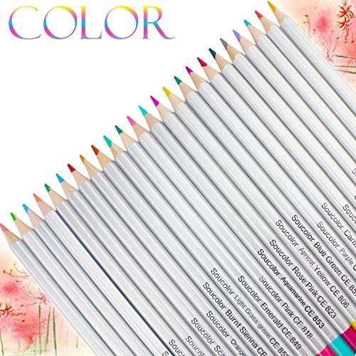 Soucolor Lápices De Colores De 72 Colores, Núcleo Blando, L ...