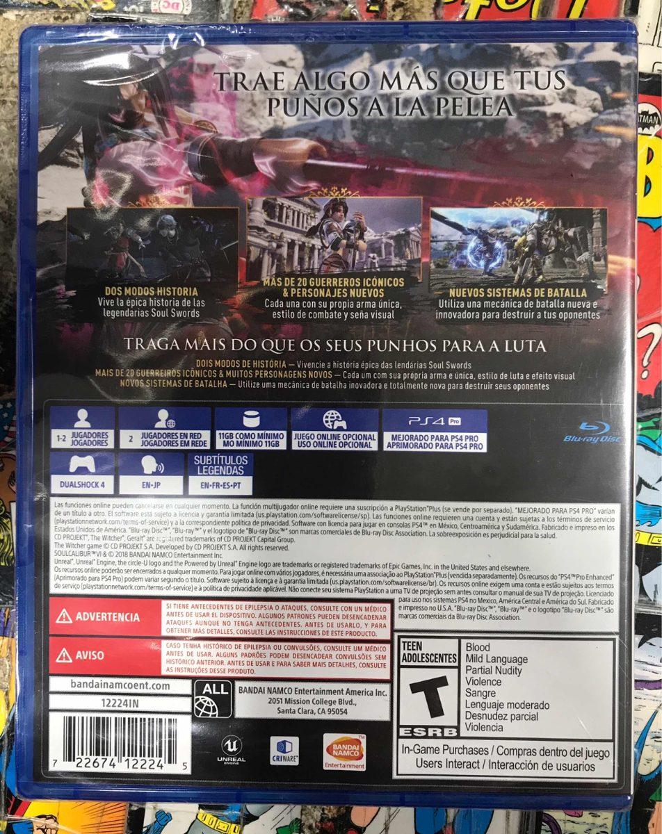 Soulcalibur 6 Ps4 Fisico Nuevo Y Sellado 2 500 00 En Mercado