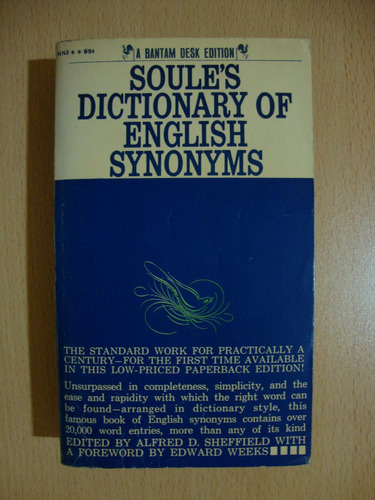 soules dictionary of english synonyms