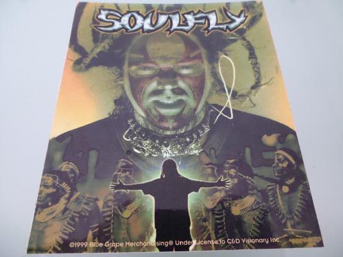 soulfly / calcomanía / stickers / original / made in u.s.a /