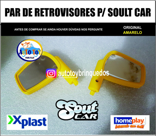 soult car 650 - x-plast - homeplay - 1 par de retrovisores