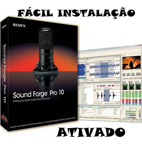 sound forge pro 10 - fácil instalação + manual em português