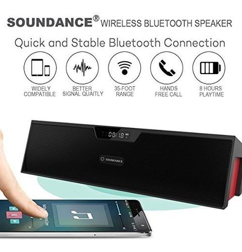 soundance altavoces bluetooth estéreo portátiles con resonad