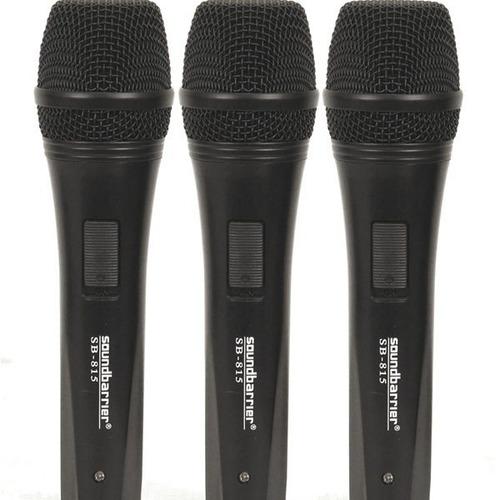 soundbarrier paquete 3 microfonos profesionales y accesorios
