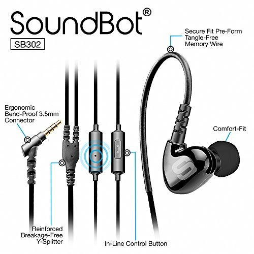 soundbot sb302 secure fit sports auriculares activos para ta