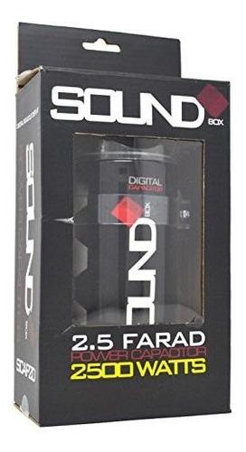 soundbox 2.5 farad condensador digital 2500w