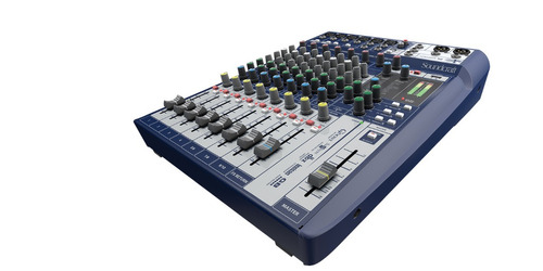 soundcraft canais mesa som